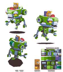 Lowpoly Bear Mech by KennethFejer