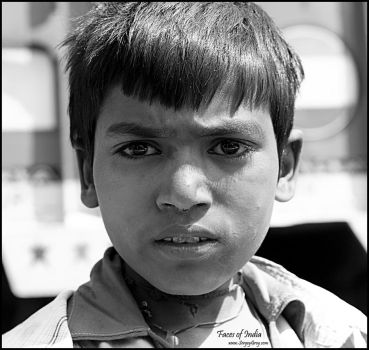 Faces of India. Young Boy by zoomzoom