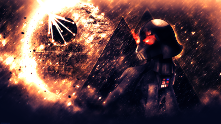 Darth Vader: The Cybernetic Pony - 4k Wallpaper by P3r0