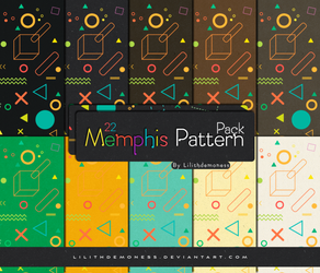 Memphis Pattern Pack #27 by LilithDemoness