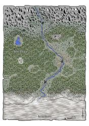 La marche du Septentrion (fantasy map) by Etory