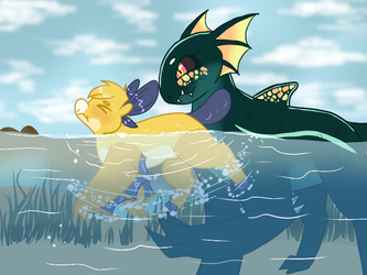 Swimmin lessons | Wyngro | by Alfalfa-RP