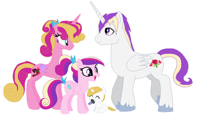 Princess Cadence's family by Crazii-Drawing