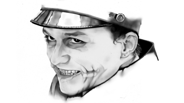 Joker (impersonating a soldier) Portrait. by kyuubi-overrated