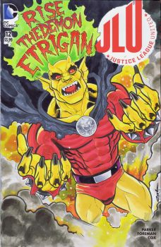 JLU: Etrigan Sketch Cover by Pencilero