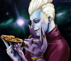 Whis and Beerus Pizza by K-EL-P