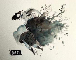 Inktober - Day 1 by Owlyjules