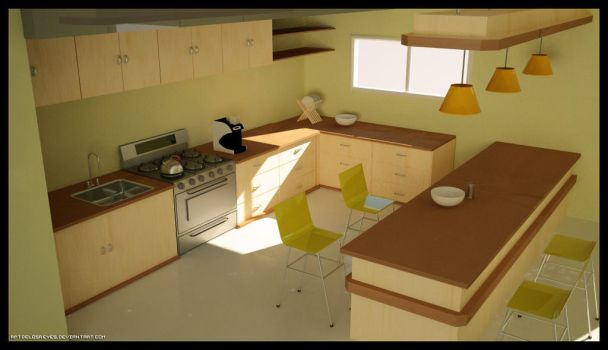Simple Kitchen by rptdelosreyes