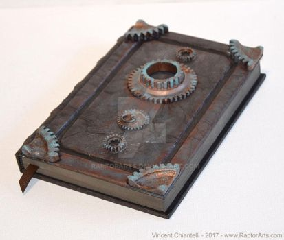 Steampunk Gear Book Tome Grimoire by RaptorArts