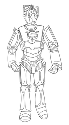 Colour-Your-Own Cyberman by jinkies36
