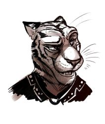 Tiger Villain Face Design by Temiree