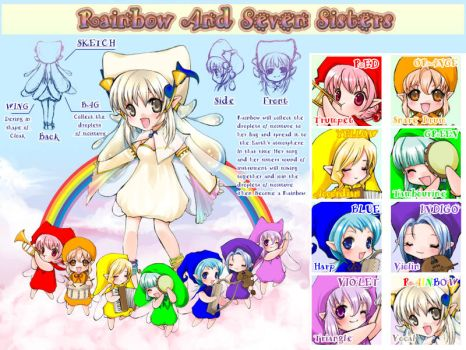 Original-Rainbow and 7 Sisters by vazzykun