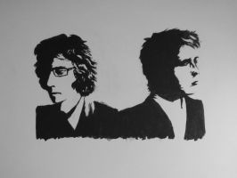 The Milk Carton Kids - Wall Art by drawing-wannabe