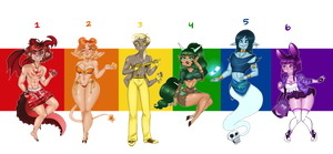 Pride Adopts // 5/6 Open by snailwife