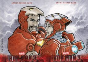Iron Man 3 - Tony and Pepper by theopticnerve