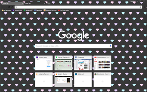 Diamonds Dark Theme - Google Chrome Theme by Sleepy-Stardust