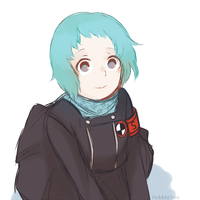 Sketch of Fuuka by Hubbleton