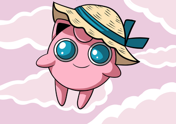 Jigglypuff in The Clouds by ThaMystic