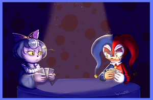 Card night by lizathehedgehog