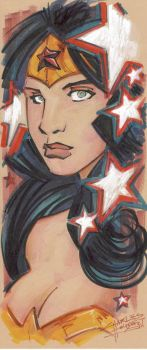 Marker : Wonder Woman by KidNotorious