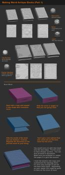Zbrush Tutorial -  Books and Detailing Props P1 by HecM