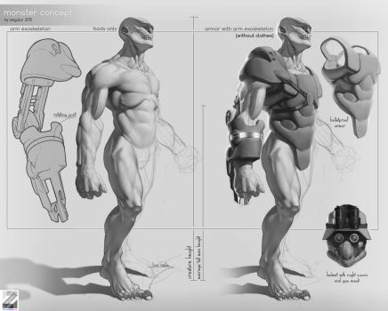 Monster concept by Zegalur