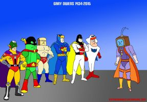 Gary Owens: Superheroes VS The Channel Surfer by VoyagerHawk87