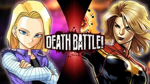 Android 18 vs Captain Marvel : Dragon Marvel by Taurock