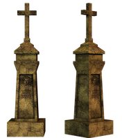 Grave 2 PNG Stock by Roy3D