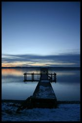 the blue sunset by ssilence