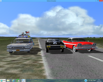 Three Movie Cars in VSF by Tonypilot