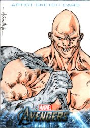 Avengers sketchcards - Absorbing Man by SpiderGuile