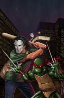 Teenage Mutant Ninja Turtles TMNT Casey Jones Raph by AdamRiches