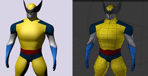 wolverine boxModelling wip by palmeiraant