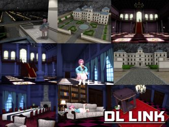 [MMD] Palace of the Earth Spirits stage (DL LINK) by Riveda1972