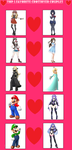 Top 5 Favorite Crossover Couples by Mk513