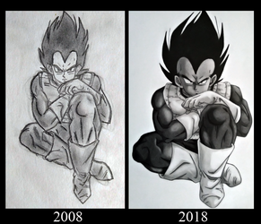 Draw this again - Vegeta by Jaenelle-20