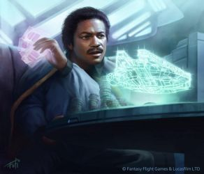 Star Wars: TCG - Lando Calrissian by AnthonyFoti