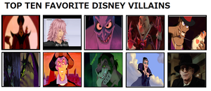 My Top 10 favorite Disney Villains by Dragonprince18