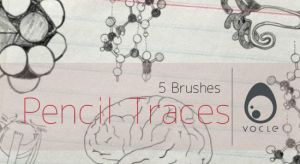 Pencil Traces - Brush Set by volcleben