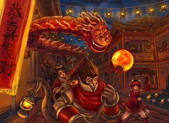 League of Legends - Art Of Revelry by fivetinsoldiers