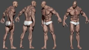 3d  character - low poly - by iskander71