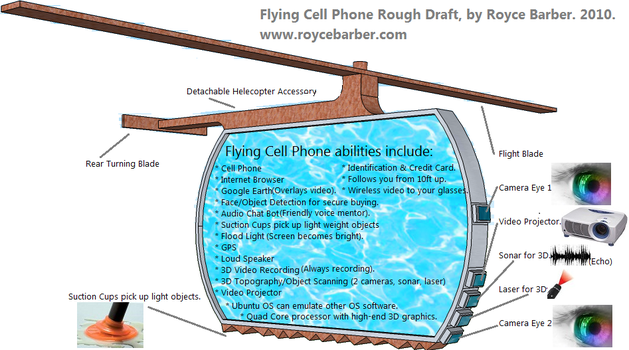 Flying Cell Phone Concept by Royce-Barber