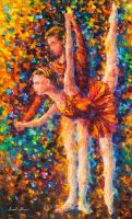 Flow of Melody by Leonid Afremov by Leonidafremov