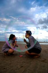 playing bubbles by nsghtphotography