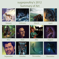 2012 Art Summary by sugarpoultry