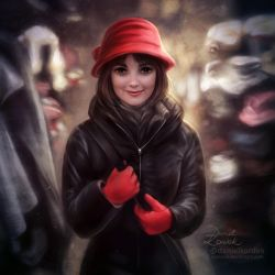 Girl in Red Hat by daekazu