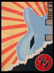 Dave Grohl Foo Fighters Original painting 3 by TheJinMu