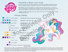 Princess Celestia Color Guide by kefkafloyd