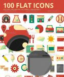 100 Flat Icons by JamesRuthless